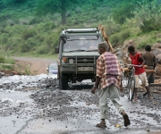 Entance road to Lake Manyara